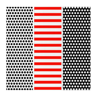 Mixed White Pattern: Dots Grid, Stripes, Dots Triptych