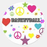mixedgraphics-basketball. etiquetas redondas