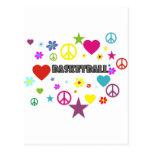 mixedgraphics-basketball. tarjeta postal