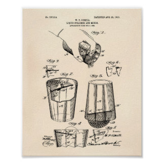 Mixer 1903 Patent Art Old Peper Poster