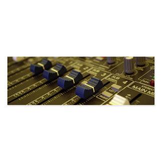 Mixer Desk bookmark business card