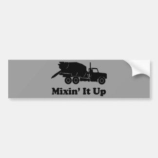 Mixin' It Up Bumper Sticker