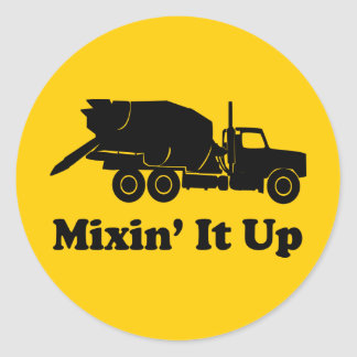Mixin' It Up Classic Round Sticker
