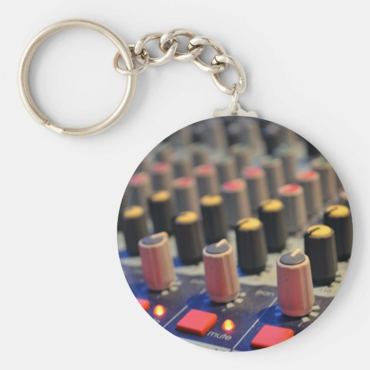 Mixing Board Buttons Keychain
