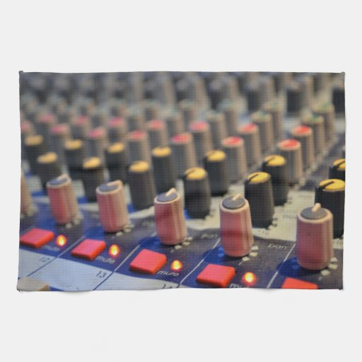 Mixing Board Buttons Towels