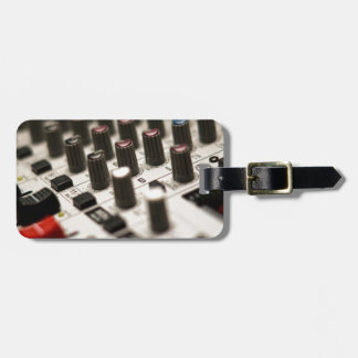 Mixing Board Closeup Bag Tag