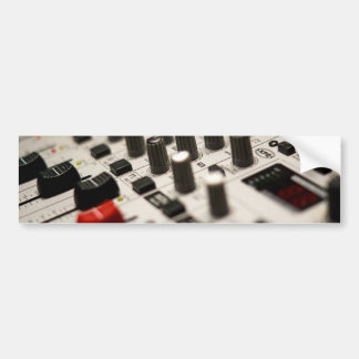 Mixing Board Closeup Car Bumper Sticker
