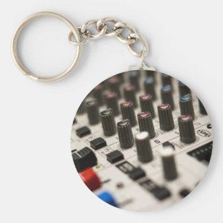 Mixing Board Closeup Keychain