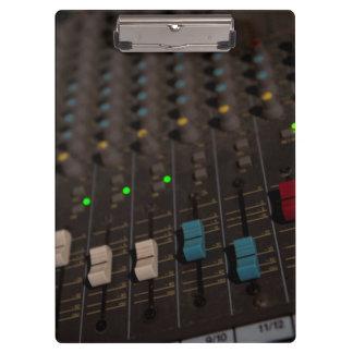 Mixing Board Faders Clipboard