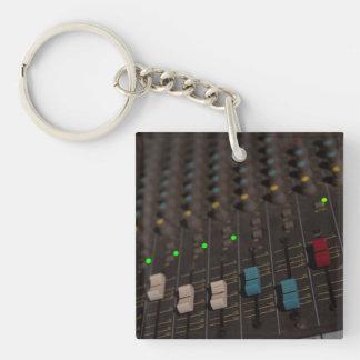 Mixing Board Faders Keychain