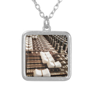 Mixing Board (Photography) Silver Plated Necklace