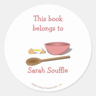 Mixing Bowl Customized Cookbook Bookplate Sticker