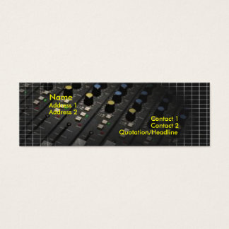 Mixing Desk Business Card