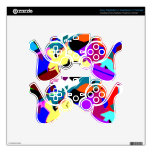 Mixing Paint Drops Decal For PS3 Controller