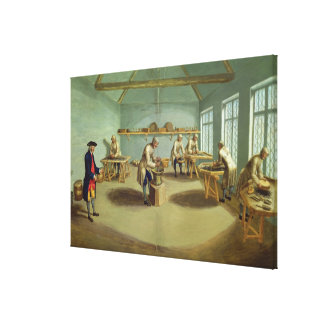 Mixing the Powder Stretched Canvas Print