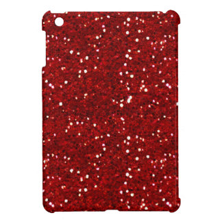 MIXMATCH CANDYAPPLE RED WHITE GLITTER BACKGROUND T iPad MINI COVER