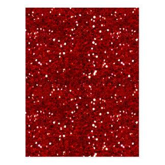 MIXMATCH CANDYAPPLE RED WHITE GLITTER BACKGROUND T POSTCARDS