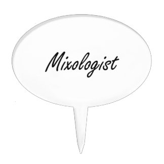 Mixologist Artistic Job Design Cake Topper