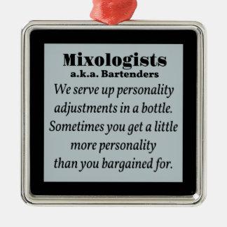 Mixologist Bartenders Metal Ornament