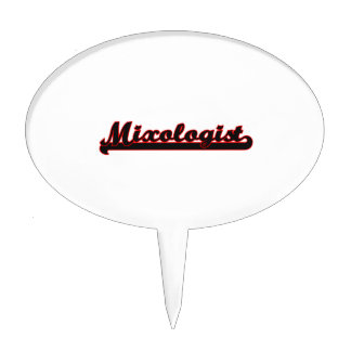 Mixologist Classic Job Design Cake Pick