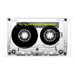 Mixtape 80s Retro Clear Cassette Business Cards