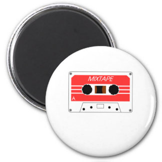 Mixtape Cassette Tape by Chillee Wilson 2 Inch Round Magnet