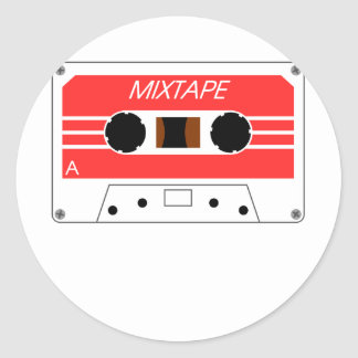 Mixtape Cassette Tape by Chillee Wilson Classic Round Sticker