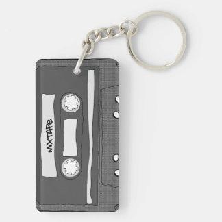 Mixtape Llavero Rectangular Acrílico A Doble Cara