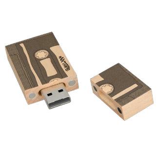 Mixtape Wood USB Flash Drive