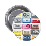Mixtapes Graphic 2 Inch Round Button