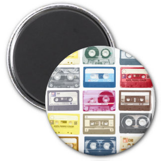 Mixtapes Graphic 2 Inch Round Magnet