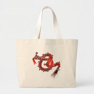 Mixtec Serpent Canvas Bags