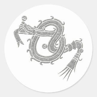 Mixtec Serpent Classic Round Sticker