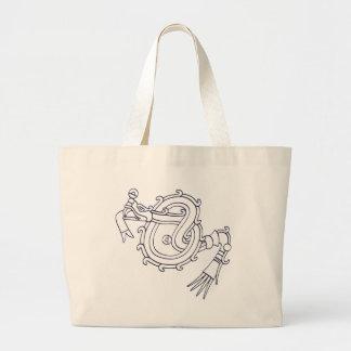 Mixtec Serpent Large Tote Bag
