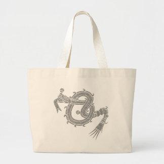 Mixtec Serpent Tote Bags