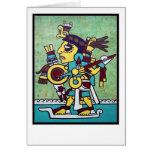 mixtec warrior print card