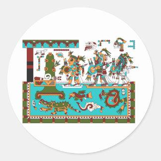 Mixtec Warriors Classic Round Sticker
