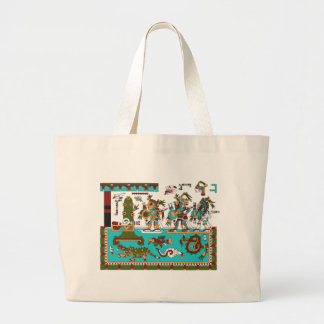 Mixtec Warriors Large Tote Bag
