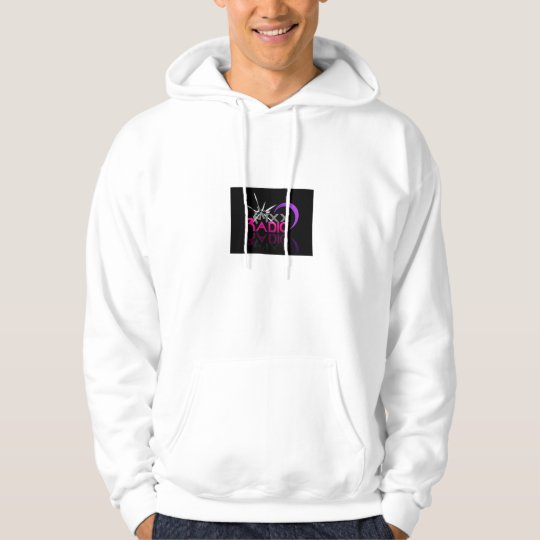 MiXX Radio in the pink hoodie
