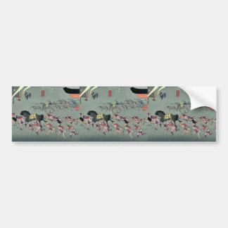 Miya por Ando, Hiroshige Ukiyoe Pegatina Para Auto