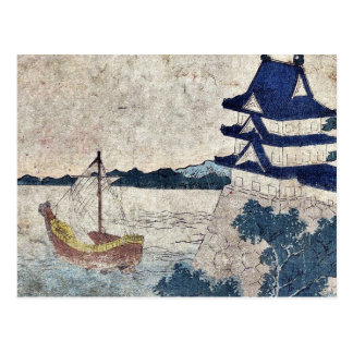 Miya por Katsushika, Hokusai Ukiyoe Tarjeta Postal