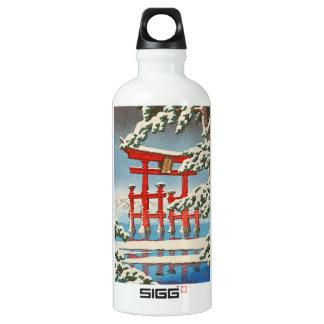 Miyajima en arte del hanga de la espinilla de