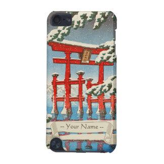 Miyajima en arte del hanga de la espinilla de Hasu Funda Para iPod Touch 5G