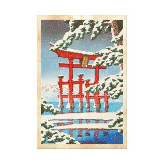Miyajima en arte del hanga de la espinilla de Hasu Impresiones En Lona