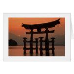 Miyajima Sunset Japan Card