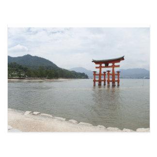 Miyajima torii 2 postcard