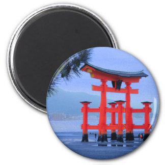 Miyajima Torii Gate Japan 2 Inch Round Magnet