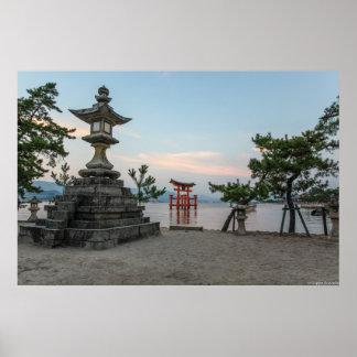Miyajima torii gate, Japan Poster