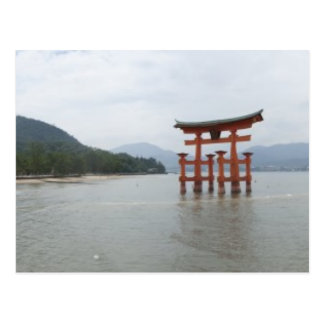 Miyajima torii postcard