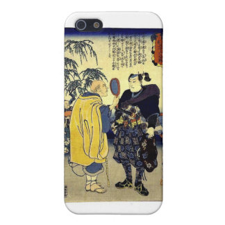 Miyamoto Musashi and the Fortune Teller c. 1800's Covers For iPhone 5